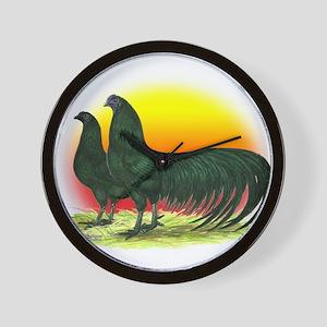 Sumatra Game Fowl Wall Clock