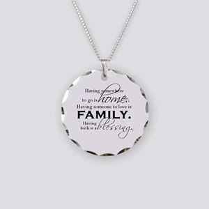 Having both is a blessing. Necklace Circle Charm