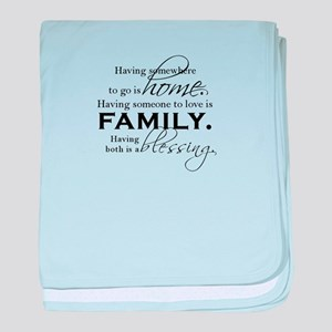 Having both is a blessing. baby blanket