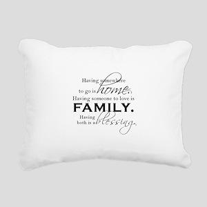 Having both is a blessin Rectangular Canvas Pillow