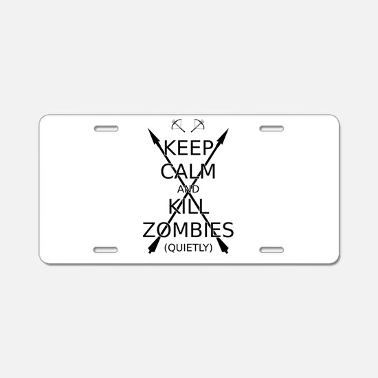 Keep Calm and Kill Zombies (quietly) blk text. Alu