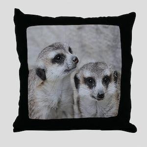 adorable meerkats 02 Throw Pillow