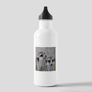 adorable meerkats 02 Water Bottle