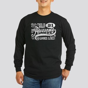 21st Birthday Long Sleeve Dark T-Shirt