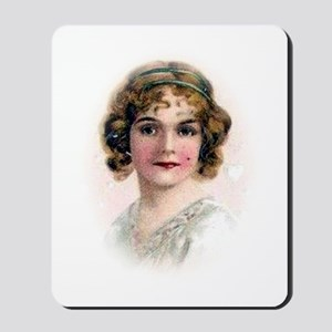 Portrait Of Flapper In Pink Mousepad