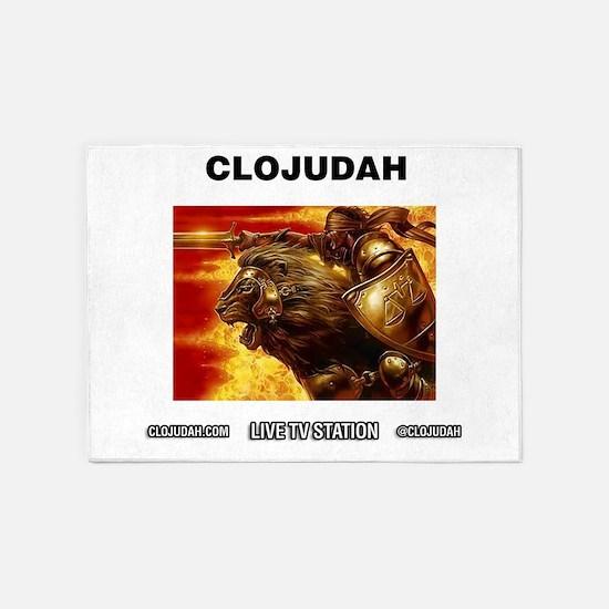 CLOJudah Conquering Lion Fire 5'x7'Area Rug