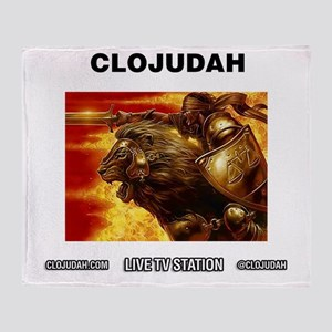CLOJudah Conquering Lion Fire Throw Blanket