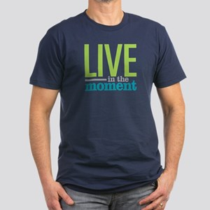 Live Moment Men's Fitted T-Shirt (dark)