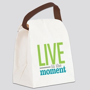 Live Moment Canvas Lunch Bag
