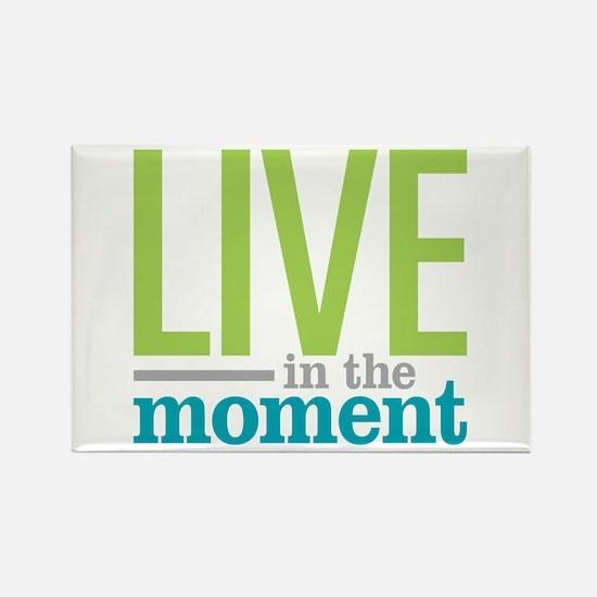 Live Moment Rectangle Magnet