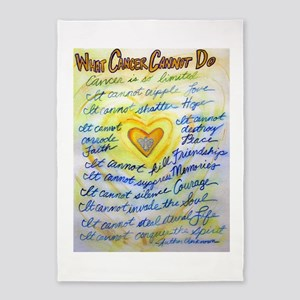 Blue & Gold Heart Cancer 5'x7'Area Rug