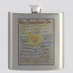Blue & Gold Heart Cancer Flask