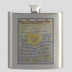Blue & Gold Heart Cancer Flask