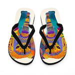 Whimsical Elephant Flip Flops