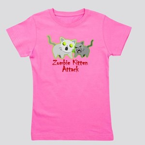 Cute Zombie Kitten Girl's Tee