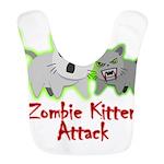 Cute Zombie Kitten Bib