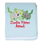 Cute Zombie Kitten baby blanket