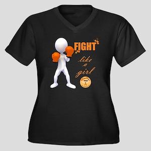 Fight MS Lik Women's Plus Size V-Neck Dark T-Shirt