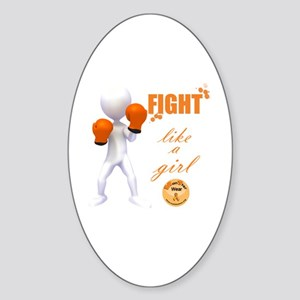 Fight MS Like a Girl by marbles4ms Sticker (Oval)