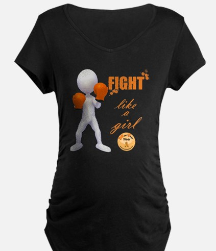 Fight MS Like a Girl by mar T-Shirt