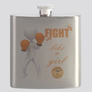 Fight MS Like a Girl by marbles4ms Flask