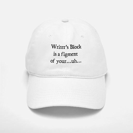writer's block Baseball Baseball Cap
