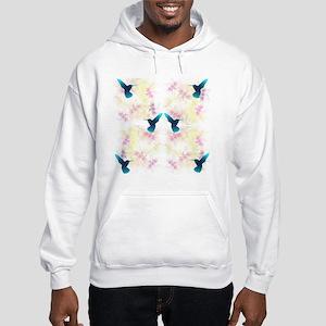 Hummingbird Garden Hooded Sweatshirt