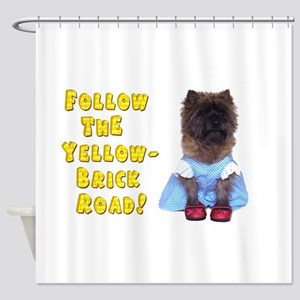 Cairn Terrier Oz Yellow Brick Road Shower Curtain