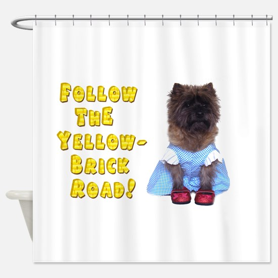 Cairn Terrier Oz Yellow Brick Road Shower Curtain