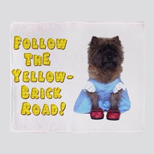 Cairn Terrier Oz Yellow Brick Road Throw Blanket
