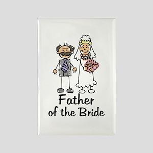 Cartoon Bride's Father Rectangle Magnet