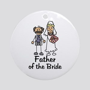 Cartoon Bride's Father Ornament (Round)