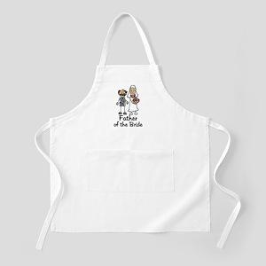 Cartoon Bride's Father BBQ Apron