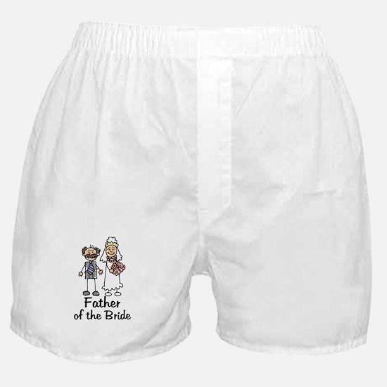 Cartoon Bride's Father Boxer Shorts
