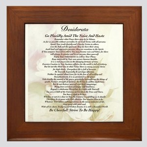 desiderata poster with faded tulips watercolor art