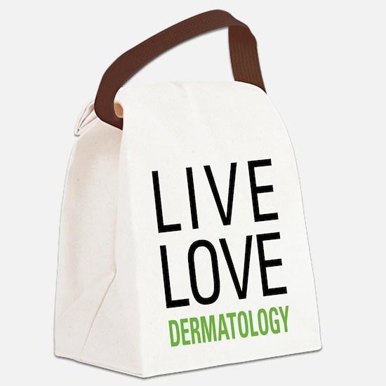 Live Love Dermatology Canvas Lunch Bag