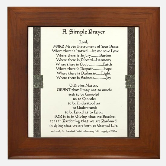 Celtic Style Simple Prayer for Peace by St. Franci