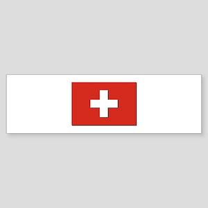 Flag of Switzerland Sticker (Bumper)