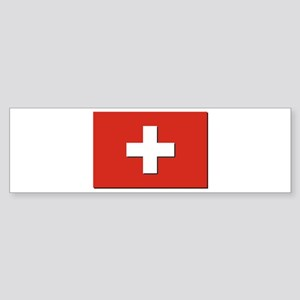 Flag of Switzerland Sticker (Bumper)