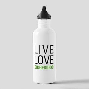 Live Love Didgeridoo Stainless Water Bottle 1.0L