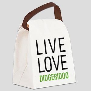 Live Love Didgeridoo Canvas Lunch Bag
