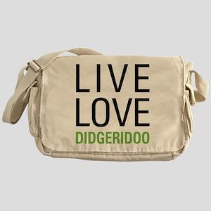 Live Love Didgeridoo Messenger Bag