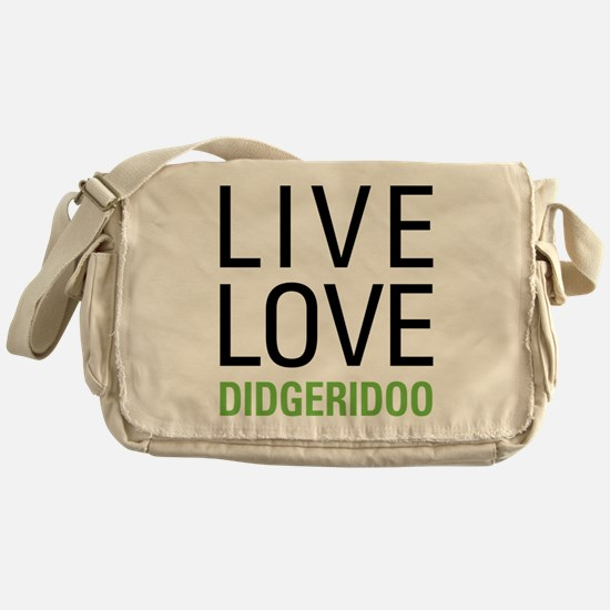 Live Love Didgeridoo Messenger Bag