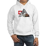 Alpine Hike White or Ash Grey Hooded Sweatshirt