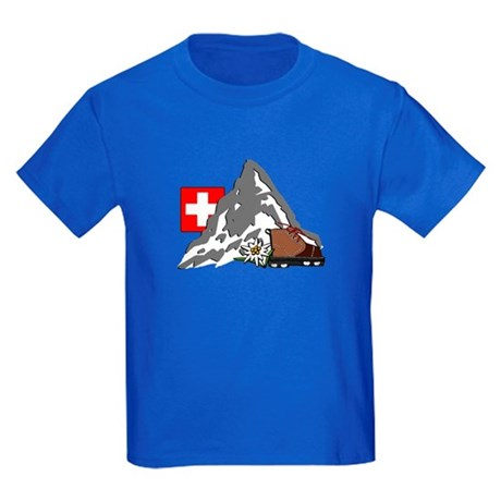 Alpine Hike Kids Royal Blue T-Shirt