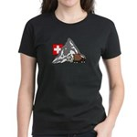 Alpine Hike Women's Black T-Shirt
