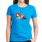 Alpine Hike Women's Caribbean Blue T-Shirt