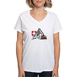 Alpine Hike Women's V-Neck T-Shirt