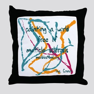 Marble painting by Marbles4ms Throw Pillow