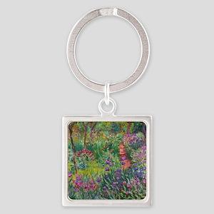 Monet Iris Garden Giverny Keychains